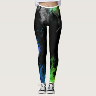 Rainbow Fire Colorful and Vibrant Leggings