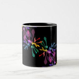 Rainbow Fireworks Print Two-Tone Coffee Mug