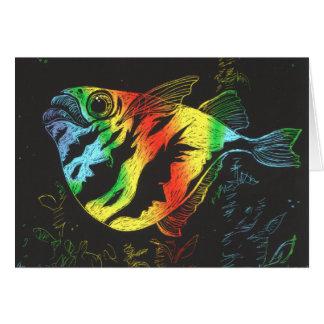Rainbow Fish Card - Horizontal Format