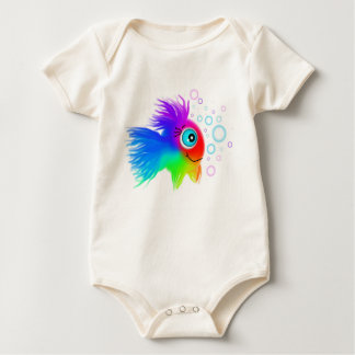 Rainbow Fish on a Baby Baby Bodysuit