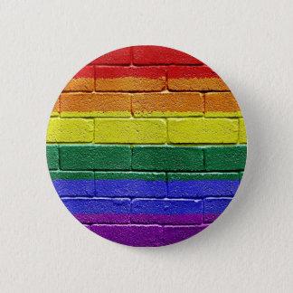 Rainbow flag 6 cm round badge