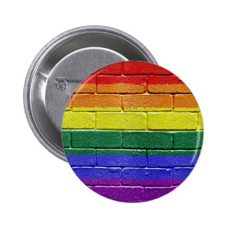 Rainbow flag 6 cm round badge