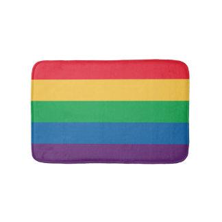 Rainbow Flag Bathroom Mat
