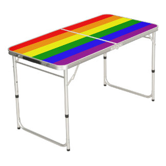 Rainbow Flag Beer Pong Table