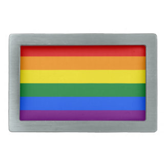 Rainbow flag belt buckles for him or her