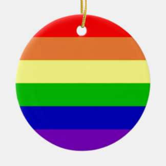 Rainbow Flag Christmas Ornament
