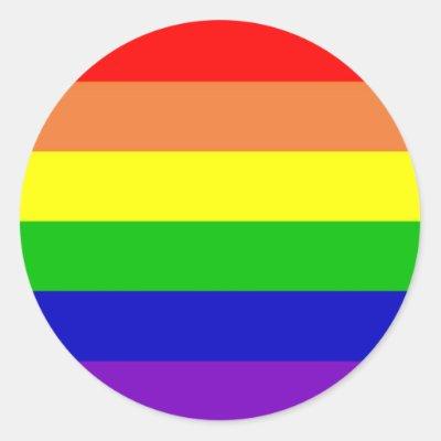 Rainbow pride gay lesbian power heart love heart sticker zazzle co uk