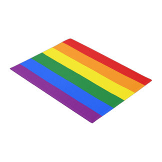 RAINBOW FLAG COLORS + your ideas Doormat