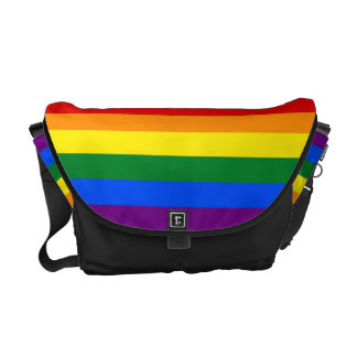 RAINBOW FLAG COLORS + your ideas Commuter Bags
