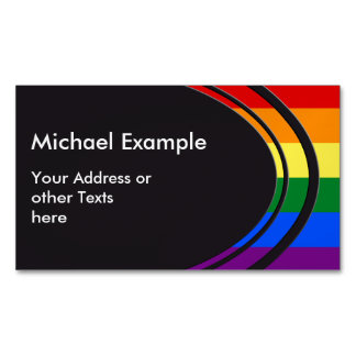 RAINBOW FLAG COLORS + your text & ideas Magnetic Business Cards