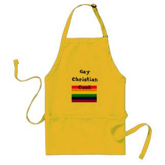 rainbow flag, Gay Christian Cook Standard Apron