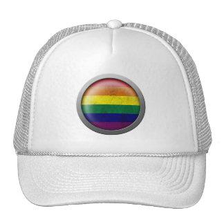Rainbow Flag Gay Pride Disc Hat