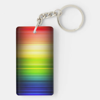 Rainbow Flag LGBT Rectangle (double-side) Keychain