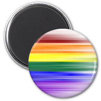Rainbow Flag Magnet (Round)