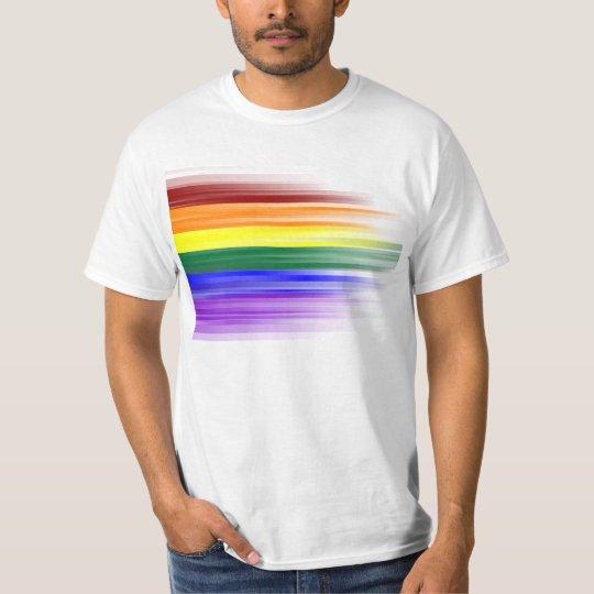 Rainbow flag mens t shirts front design for Mens designer t shirts uk