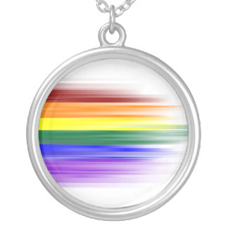 Rainbow Flag Necklace (Round)