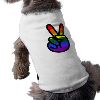 Rainbow Flag Peace Sleeveless Dog Shirt