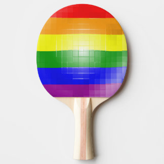 Rainbow Flag Ping-Pong Paddle
