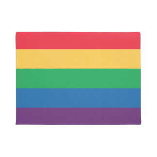 Rainbow Flag Pride Door Mat