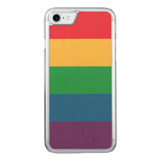 Rainbow Flag Pride Wood iPhone Case