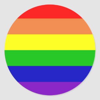 Rainbow Flag Round Sticker