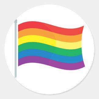 Rainbow Flag Round Sticker