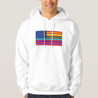 RAINBOW FLAG - SHOW YOUR COLORS! HOODIE