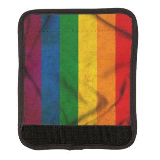 RAINBOW FLAG SQUARE CANVAS LUGGAGE HANDLE WRAP