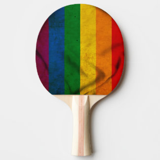 RAINBOW FLAG SQUARE CANVAS PING PONG PADDLE