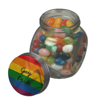 RAINBOW FLAG SQUARE CANVAS - png Glass Jar