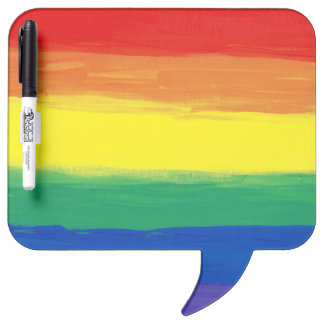RAINBOW FLAG SQUARE OIL PAINT DRY ERASE WHITEBOARDS