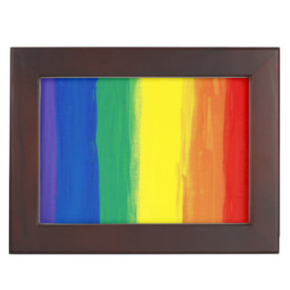 RAINBOW FLAG SQUARE OIL PAINT MEMORY BOXES
