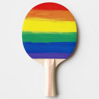 RAINBOW FLAG SQUARE OIL PAINT Ping-Pong PADDLE