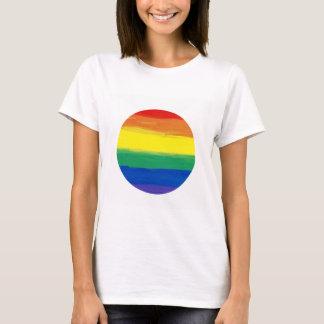 RAINBOW FLAG SQUARE OIL PAINT T-Shirt