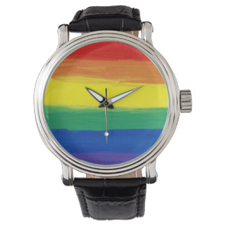 RAINBOW FLAG SQUARE OIL PAINT WATCHES