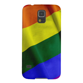 RAINBOW FLAG SQUARE RIBBON CASES FOR GALAXY S5
