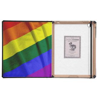 RAINBOW FLAG SQUARE RIBBON CASES FOR iPad