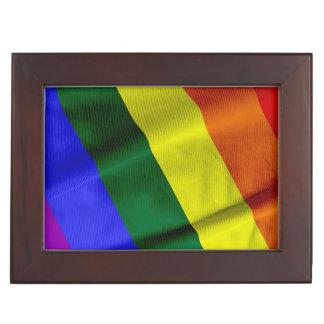 RAINBOW FLAG SQUARE RIBBON MEMORY BOX