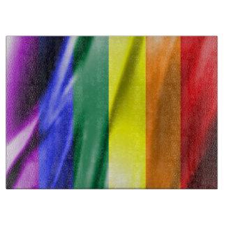 RAINBOW FLAG SQUARE SILK CUTTING BOARDS