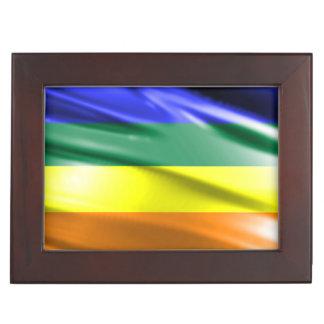 RAINBOW FLAG SQUARE SILK KEEPSAKE BOX