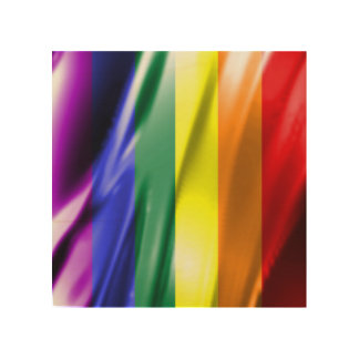 RAINBOW FLAG SQUARE SILK WOOD CANVASES
