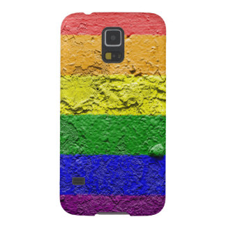 RAINBOW FLAG SQUARE STUCCO CASES FOR GALAXY S5