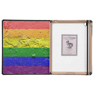 RAINBOW FLAG SQUARE STUCCO COVER FOR iPad