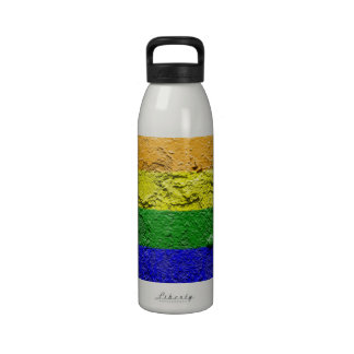 RAINBOW FLAG SQUARE STUCCO WATER BOTTLE