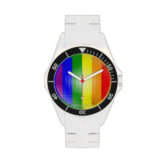 RAINBOW FLAG SQUARE TILE WATCHES