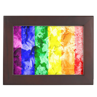 RAINBOW FLAG SQUARE WATERCOLOR MEMORY BOXES