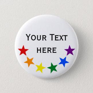 RAINBOW FLAG STARS II + your ideas 6 Cm Round Badge