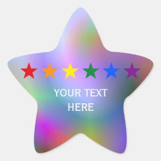 RAINBOW FLAG STARS + your ideas Star Stickers