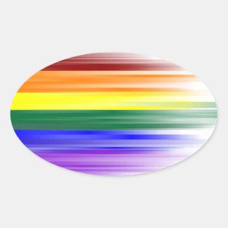 Rainbow Flag Sticker Sheet (Oval)