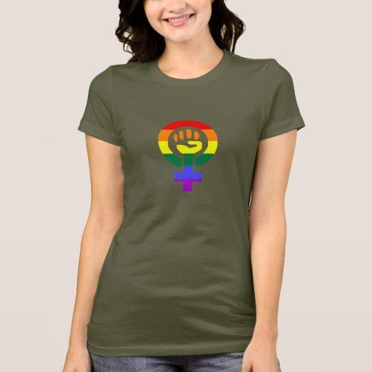 Rainbow Flag Woman Power women's t-shirt